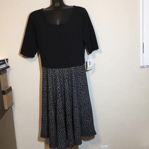 LuLaRoe Dresses & Skirts - Lularoe Nicole Black/grey 3XL NWT
